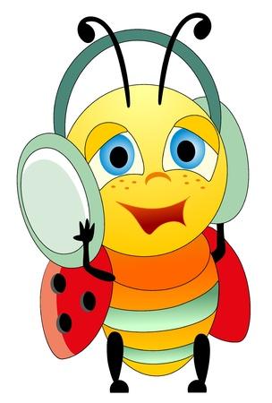 earphones: Ladybug and earphones