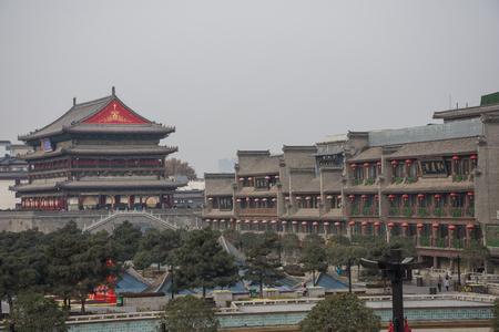 Xi'An cityscape, China
