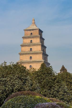 Wild goose Pagoda, Xi'An, China Banco de Imagens
