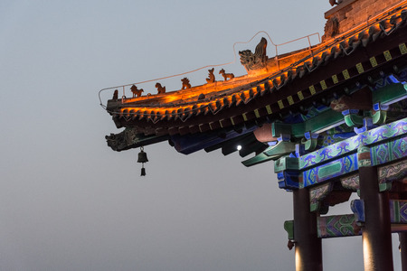 Detail of a beautiful chinese temple in Xi'An