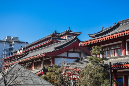 Traditional buildings in Xi'An, China Banco de Imagens