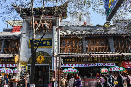 Temple in the main market street of Xi'An, China