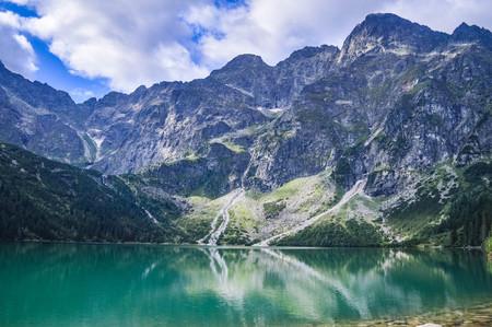 The beautiful lake of Morskie Oko in the Tatra Mountains, near Zakopane, Poland