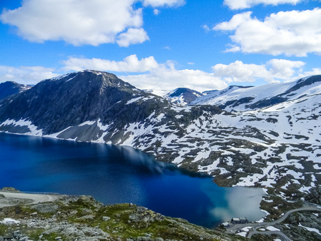 Glacial lake in the Dalsnibba Mount, Norway Imagens - 115670427