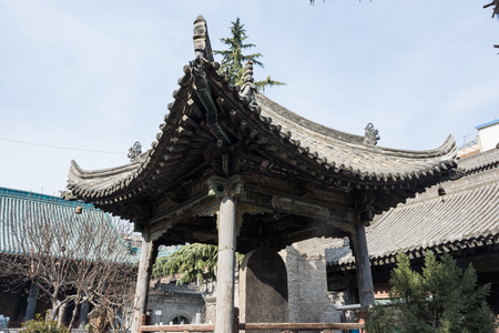 Very ancient chinese temple in the historic center of Xi'An, China Banco de Imagens