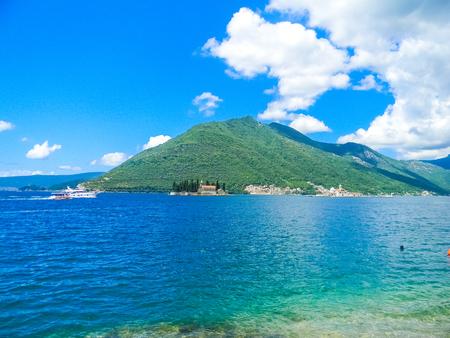 Beautiful Island in the Kotor Bay, Montenegro