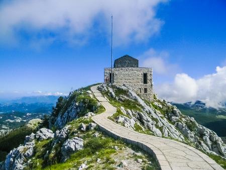 Mausoleum of Lovcen National Park, Montenegro 新聞圖片