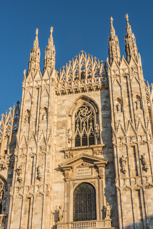 Milan Cathedral (Duomo di Milano) at sunset, Italy
