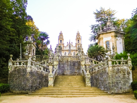 Stairs with azulejos in Lamego, Portugal Stock Photo
