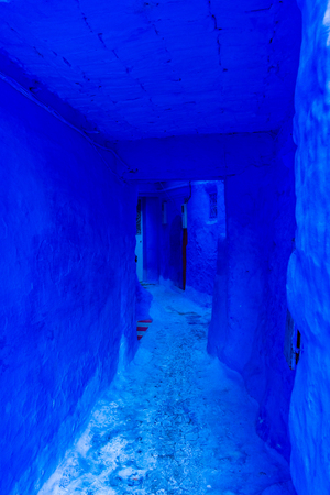 The blue streets of Chefchaouen, Morocco