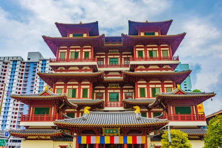 SINGAPORE, 2 OCTOBER 2019: Buddha Tooth Relic Temple in Chinatown