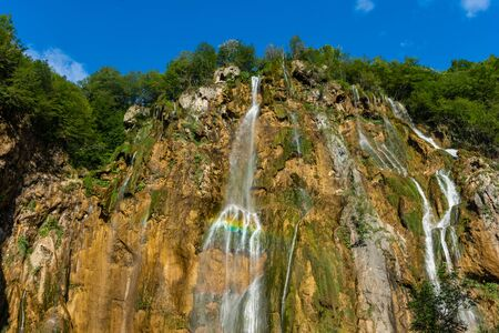 The Great Waterfall of Plitvice Lakes, Croatia Standard-Bild