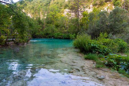 Plitvice Lakes in the forest, Croatia Standard-Bild