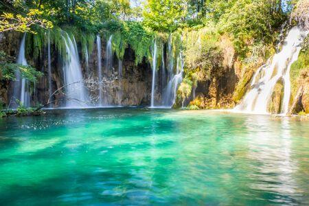 Waterfalll in Plitvice Lakes, Croatia