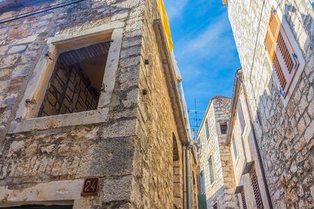 Ancient buildings in Stari GRad, Hvar, Croatia