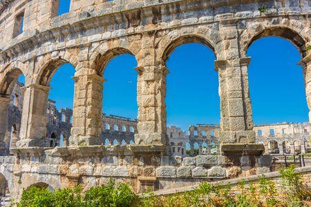 The beautiful Roman Arena of Pula, Croatia