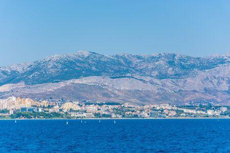 Landscape of Split from the sea, Croatia Stock Photo