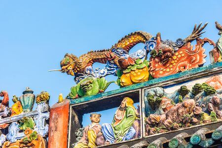 Colorful architecture of the Chen Clan Ancestral Hall in Guangzhou, Guangdong, China