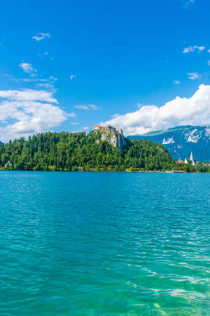 View of the Castle of Lake Bled, Slovenia