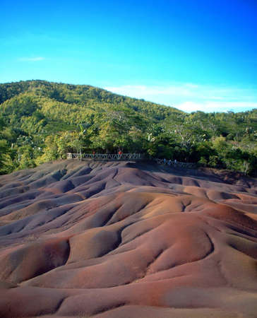 Seven-colored earth. Unique geological formation - Mauritius Stock Photo