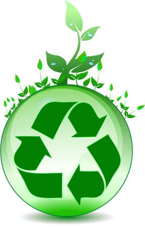 Global environmental recycling Illusztráció