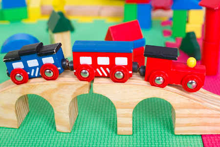 seemed: Small colorful toy train for children