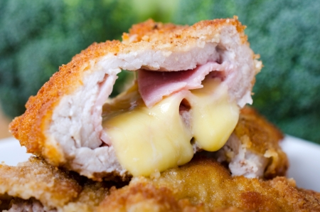 cutlet: Cutlet ith ham and cheese filling