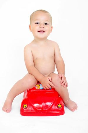 loo: Little boy on the pot