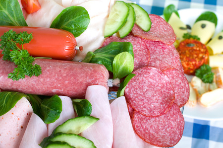 ail: small sausage platter with salami, sausage spread and various meats