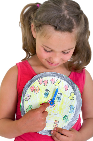 exempted: little girl turns on the clock, exempted