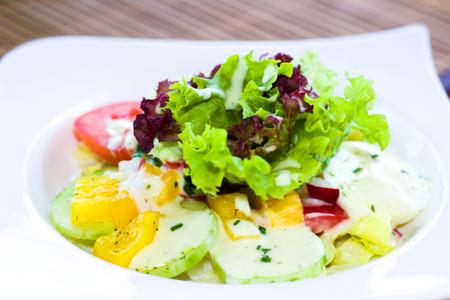 foodstuffs: small mixed salad as a starter
