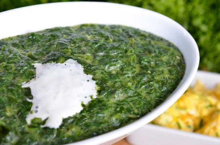 creamed: Creamed spinach with a dash of cream
