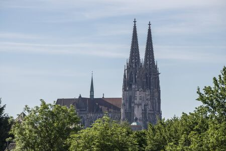 Looking to the Cathedral of St. Peter in Regensburg