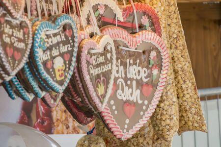Gingerbread heart at a folkfestival