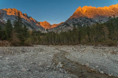 alpenglow: Alpenglow in Zell am See - Austria