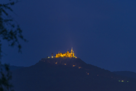 nobleness: Illuminated Castle Hohenzollern at night