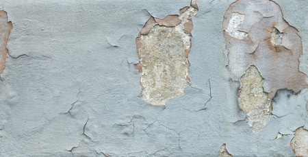 House wall with many cracks