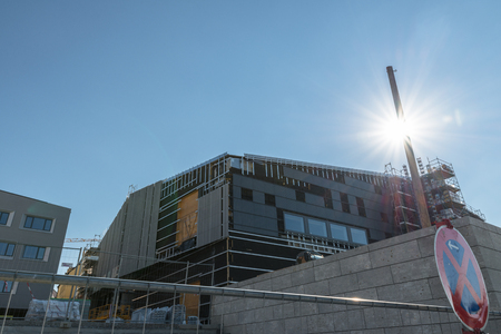 Structural work of the new museum of Bavarian history in Regensburg, Germany 新聞圖片