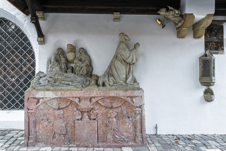 Figure at Cathedral St. Peter in Regensburg, Germany