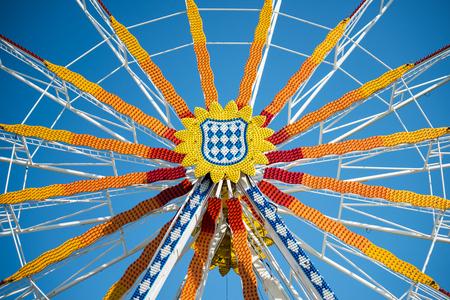 Folk festival with ferris wheel, Germany