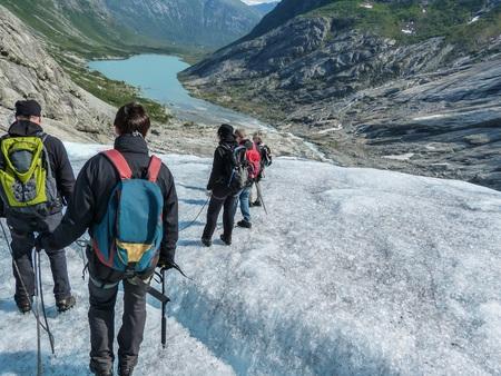 Nigardsbreen Glacier in Sogn Fjordane - Norway Banco de Imagens