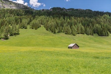 Alpine huts in the nature park Riedingtal Zederhaus, Austria