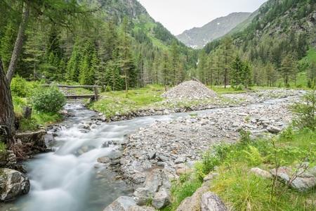 Creek in the Goeriachtal in Lungau, Austria 写真素材
