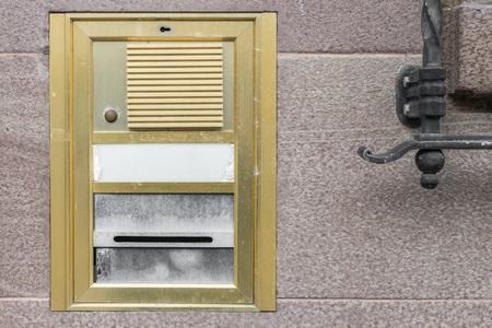 Old vintage door bell with intercom, Germany