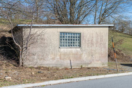 Single garage with flat roof, Germany