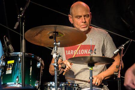 Regensburg, Bavaria, Germany, July 20, 2019, Live music of the Band Alexandrina Simeon Quintett on the Jazz Festival in Regensburg Редакционное