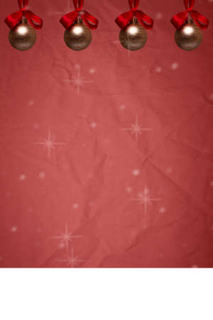 advent: a colorful festive red Christmas or advent card with copyspace