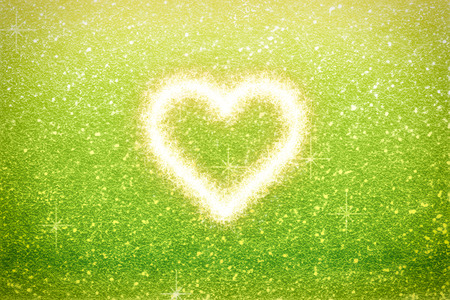 love sparkle heart with background Stock Photo