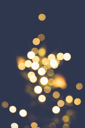 Blured Christmas tree lights with bokeh