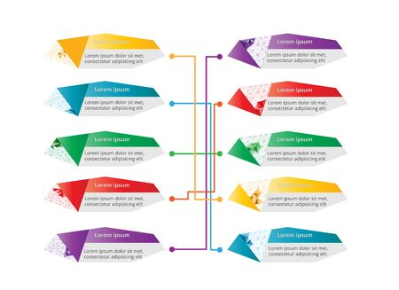 graphic: Colorful polygonal business info graphic